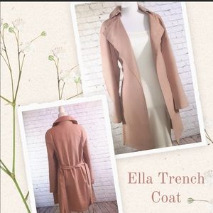 Dusty Pink Trench Coat